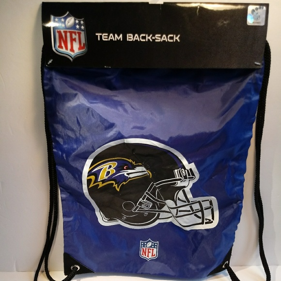buy popular 90472 d40a5 New Baltimore Ravens NFL Team Back Sack Tote NWT